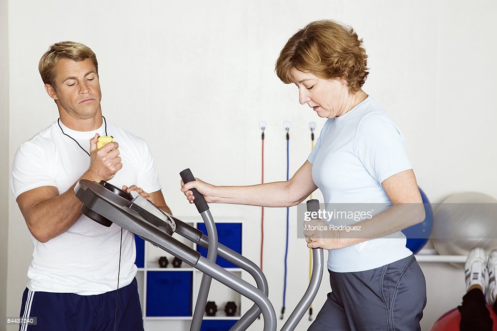 Physical Therapy, Matured Woman : Stock Photo