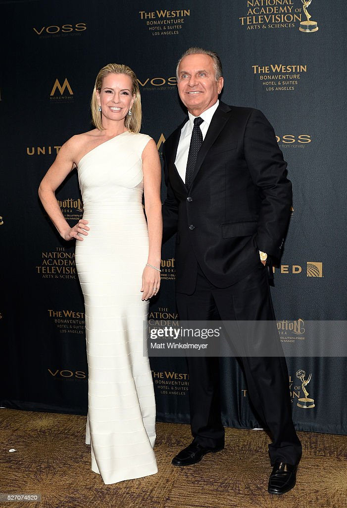 Physician Jennifer Ashton (L) and Dr. Andrew P. Ordon, MD pose in the press room at the 43rd Annual Daytime Emmy Awards at the Westin Bonaventure Hotel on May 1, 2016 in Los Angeles, California.