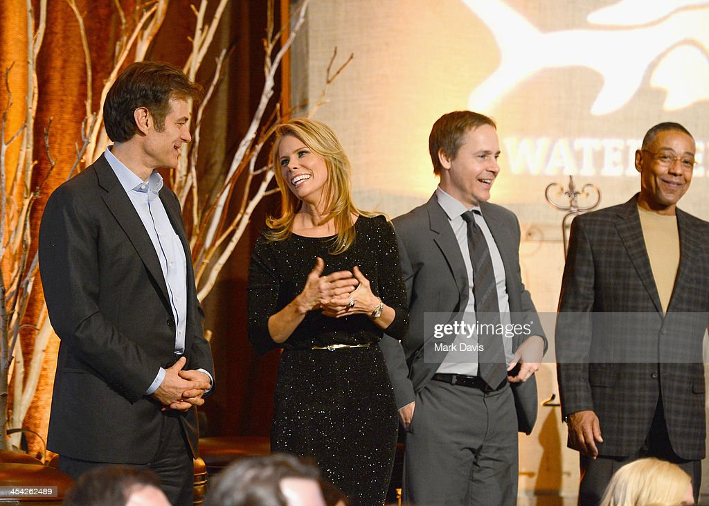 Physician/television personality Dr. Mehmet Oz, actress Cheryl Hines, actor Chad Lowe, and actor Giancarlo Esposito attend the Waterkeeper Alliance Benefit during Day 2 of the Deer Valley Celebrity Skifest held at Montage Deer Valley on December 7, 2013 in Park City, Utah.