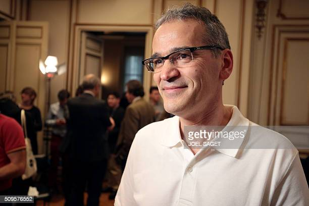 Physicist Benoit Mours of France's National Center for Scientific Research poses for a picture on the occassion of a press briefing of the CNRS on...