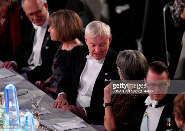 US physicist Nobel Prize in Chemistry 2017 laureate Joachim Frank attends the 2017 Nobel Banquet for the laureates in medicine chemistry physics...