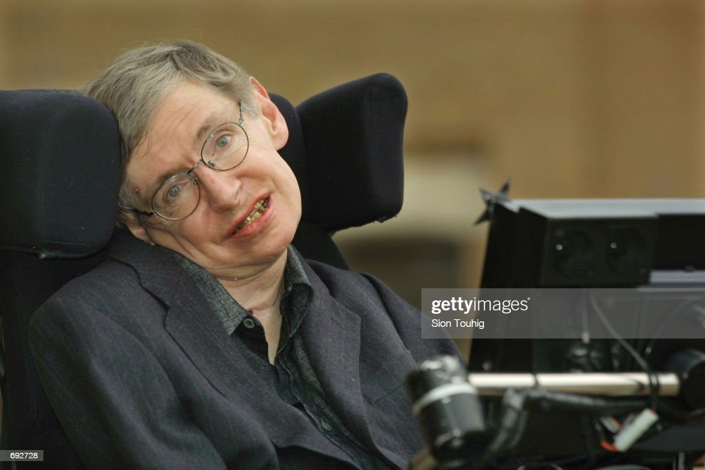 Physicist <a gi-track='captionPersonalityLinkClicked' href=/galleries/search?phrase=Stephen+Hawking&family=editorial&specificpeople=215281 ng-click='$event.stopPropagation()'>Stephen Hawking</a> smiles at a symposium to honor his birthday at the Center for Mathematical Sciences at the University of Cambridge January 11, 2002 in Cambridge, England. Hawking turned 60-years-old on January 8, 2002 and is the Lucasian Professor of Mathematics, a post once held by Sir Isaac Newton.