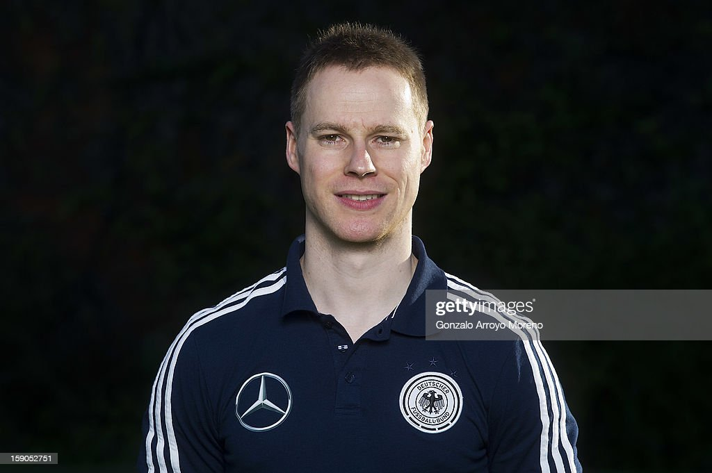 Physiotherapist Adam Mitter poses during the Germany U17 team presentation at La Manga Club training ground H on January 6, 2013 in La Manga, Spain.