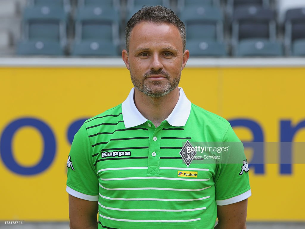 Physiotherapist Andreas Bluhm poses during the team presentation of Borussia Moenchengladbach on July 9, 2013 in Moenchengladbach, Germany.