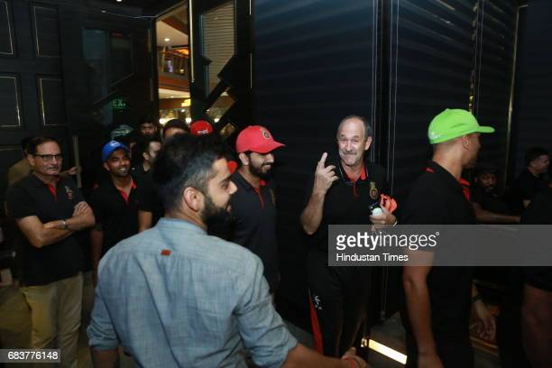 Physiotherapist Evan Speechly during special dinner for Royal Challengers Bangalore teammates by Virat Kohli at his new restaurant Nueva RK Puram on...
