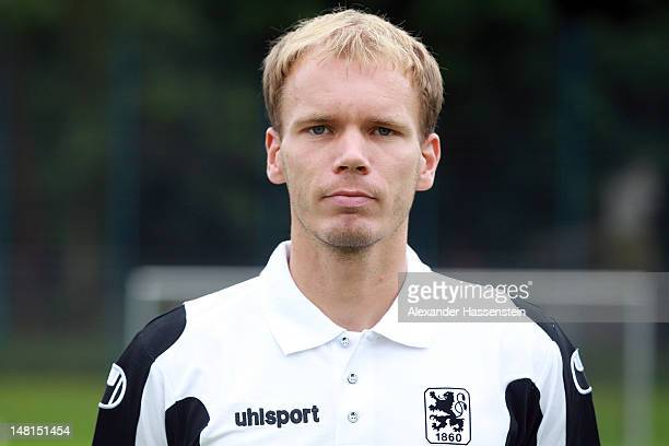 Physiotherapist Tobias Adams of 1860 Muenchen poses during the Second Bundesliga team presentation of TSV 1860 Muenchen on July 11 2012 in Munich...