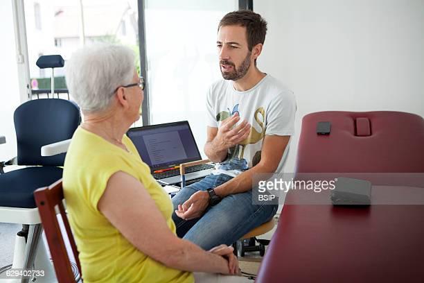 Physiotherapist vestibular rehabilitation on patients who are suffering from vertigo balance disorders relating to the inner ear
