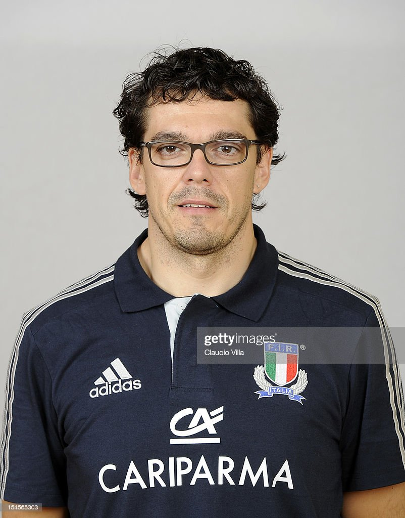 Physiotherapist Yarno Celeghin poses during a Italy Rugby Union player portrait session on October 22, 2012 in Rome, Italy.
