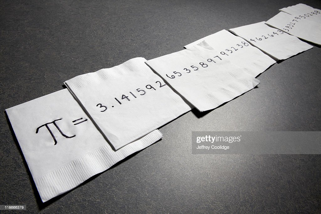 Pi on Napkins : Stock Photo