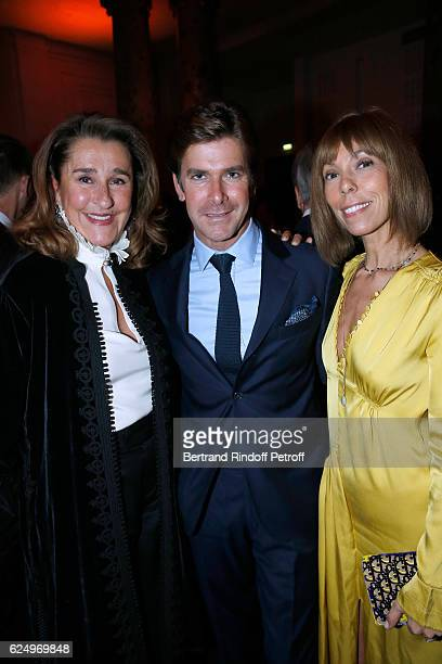 Pia de Brantes JeanChristophe Laizeau and Mathilde Favier attend the 'Diner des amis de Care' for the 70th anniversary of the Association Held at...