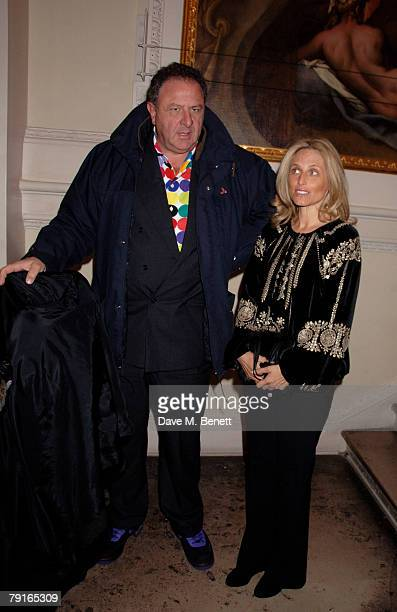 Pia Getty and Jean Pigozzi attend the private view of 'From Russia' at the Royal Academy of Arts on January 22 2008 in London England