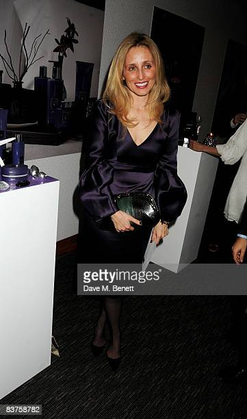 Pia Getty attends the Island Night fragrance launch by India Hicks in collaboration with Crabtree Evelyn at The Metropolitan Hotel on November 19...