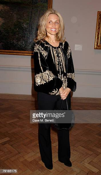 Pia Getty attends the private view of 'From Russia' at the Royal Academy of Arts on January 22 2008 in London England
