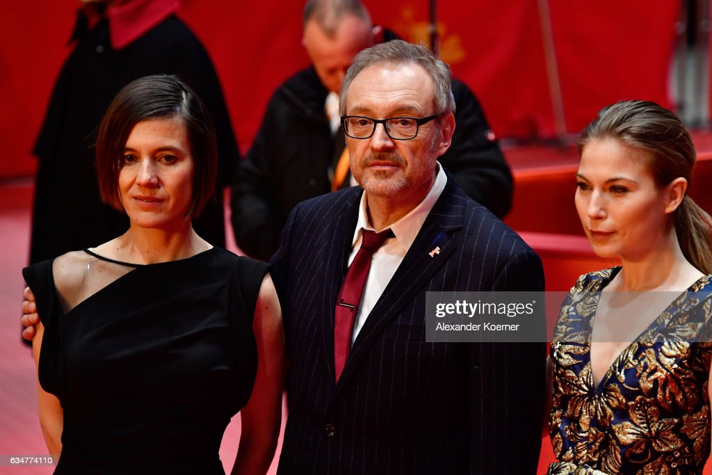 Pia Hierzegger, Josef Hader and Nora von Waldstaetten attend the 'Wild Mouse' (Wilde Maus) premiere during the 67th Berlinale International Film Festival Berlin at Berlinale Palace on February 11, 2017 in Berlin, Germany.