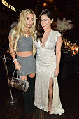 Pia Mia and Tara Razavi attend the Bera Tarap private birthday dinner party at Beso on December 16 2014 in Hollywood California