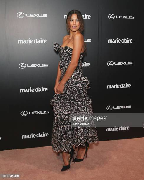 Pia Miller arrives ahead of the 2017 Prix de Marie Claire Awards on August 15 2017 in Sydney Australia