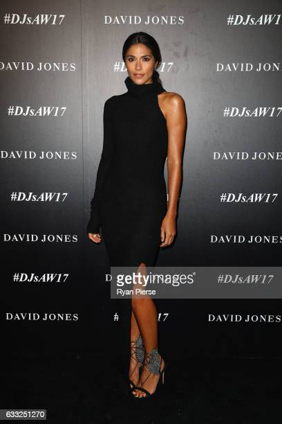 Pia Miller arrives ahead of the David Jones Autumn Winter 2017 Collections Launch at St Mary's Cathedral Precinct on February 1 2017 in Sydney...