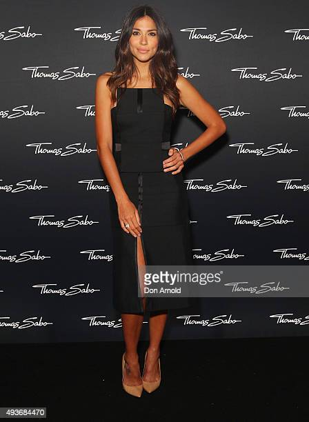 Pia Miller arrives ahead of the Thomas Sabo 10 Year Celebration Cocktail Party at Zeta Bar on October 22 2015 in Sydney Australia