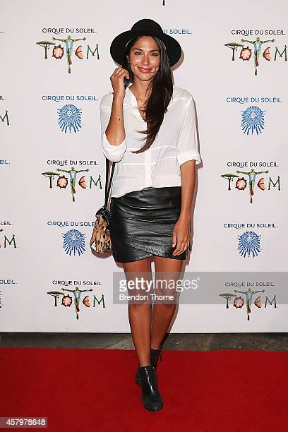 Pia Miller arrives at Cirque du Soleil TOTEM Sydney Premiere on October 28 2014 in Sydney Australia