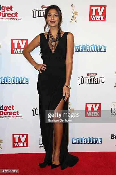 Pia Miller arrives at the 57th Annual Logie Awards at Crown Palladium on May 3 2015 in Melbourne Australia