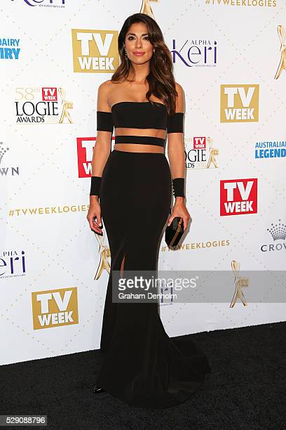 Pia Miller arrives at the 58th Annual Logie Awards at Crown Palladium on May 8 2016 in Melbourne Australia