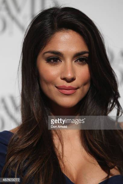 Pia Miller arrives at the David Jones Spring/Summer 2014 Collection Launch at David Jones Elizabeth Street Store on July 30 2014 in Sydney Australia