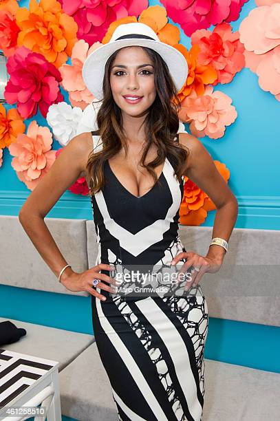 Pia Miller during Magic Millions Race Day at Gold Coast Racecourse on January 10 2015 in Gold Coast Australia