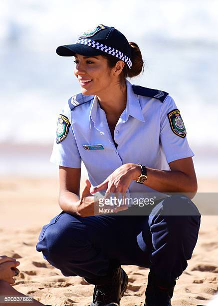 Pia Miller on the set of Home and Away on April 11 2016 in Sydney Australia