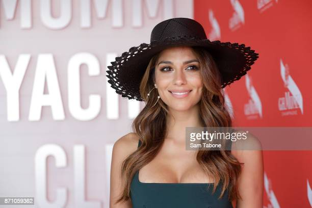 Pia Miller poses at the Mumm Marquee on Melbourne Cup Day at Flemington Racecourse on November 7 2017 in Melbourne Australia