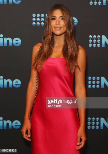 Pia Miller poses during the Channel Nine Upfronts 2018 event on October 11 2017 in Sydney Australia