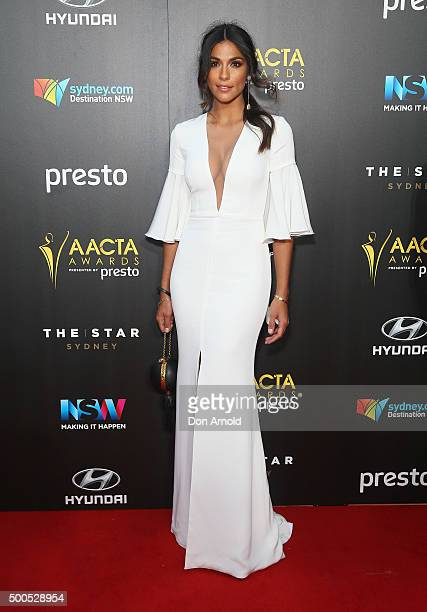 Pia Miller poses on the red carpet for the 5th AACTA Awards at The Star on December 9 2015 in Sydney Australia
