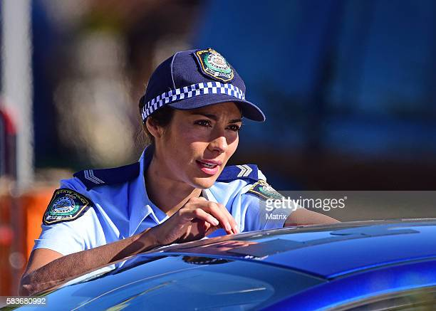 Pia Miller sighted filming on the set of 'Home and Away' on July 25 2016 in Sydney Australia Photo by