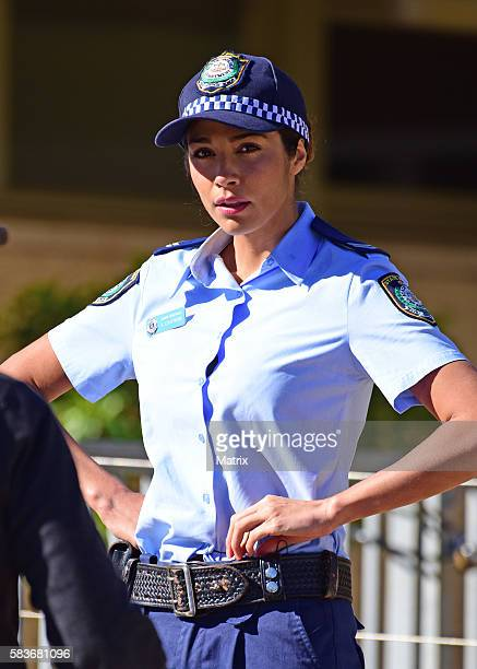 Pia Miller sighted filming on the set of 'Home and Away' on July 25 2016 in Sydney Australia