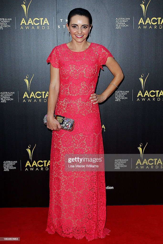 Pia Miranda arrives at the 2nd Annual AACTA Awards at The Star on January 30, 2013 in Sydney, Australia.