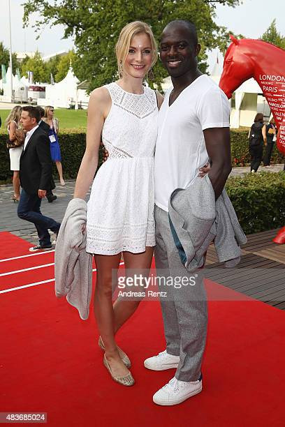 Pia Sarpei and Hans Sarpei attend the FEI European Championship 2015 media night on August 11 2015 in Aachen Germany