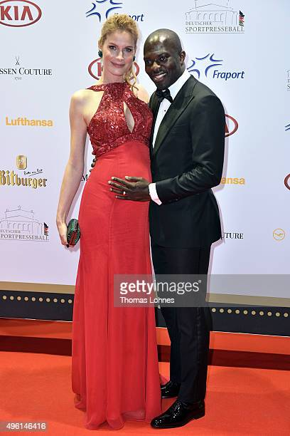 Pia Sarpei and Hans Sarpei attend the German Sports Media Ball at Alte Oper on November 7 2015 in Frankfurt am Main Germany