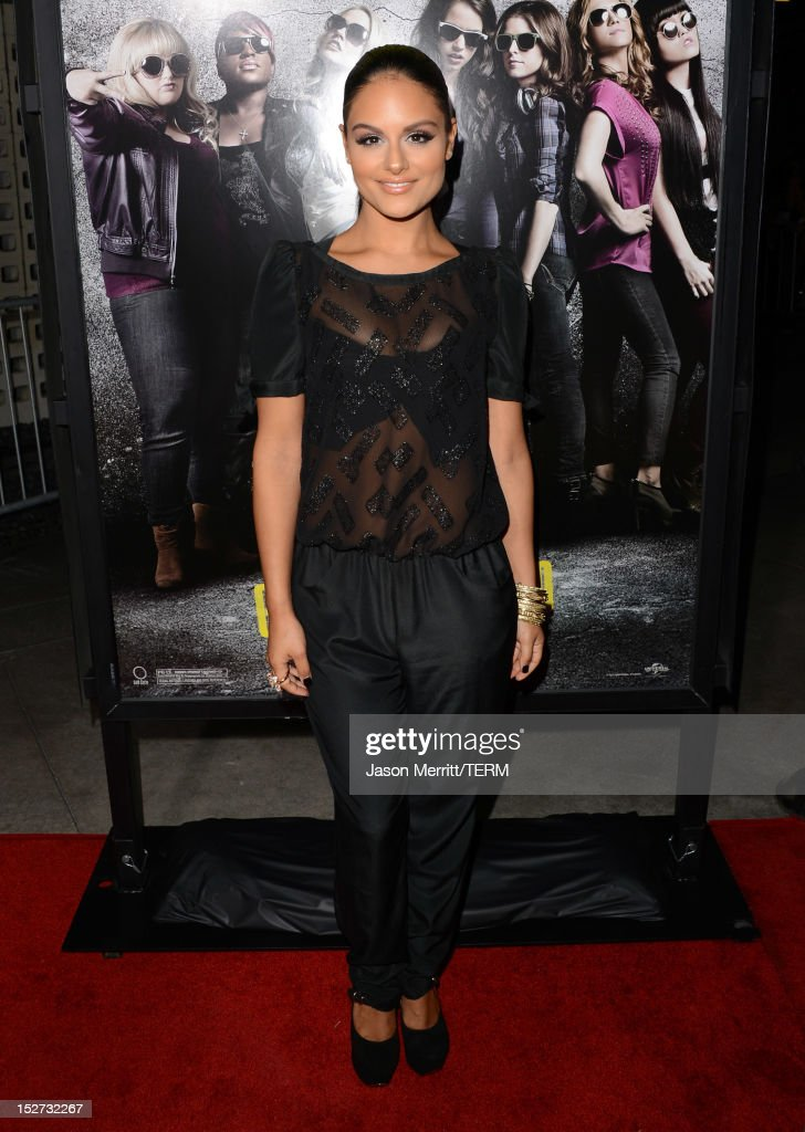Pia Toscano arrives at the premiere of Universal Pictures And Gold Circle Films' 'Pitch Perfect' at ArcLight Cinemas on September 24, 2012 in Hollywood, California.