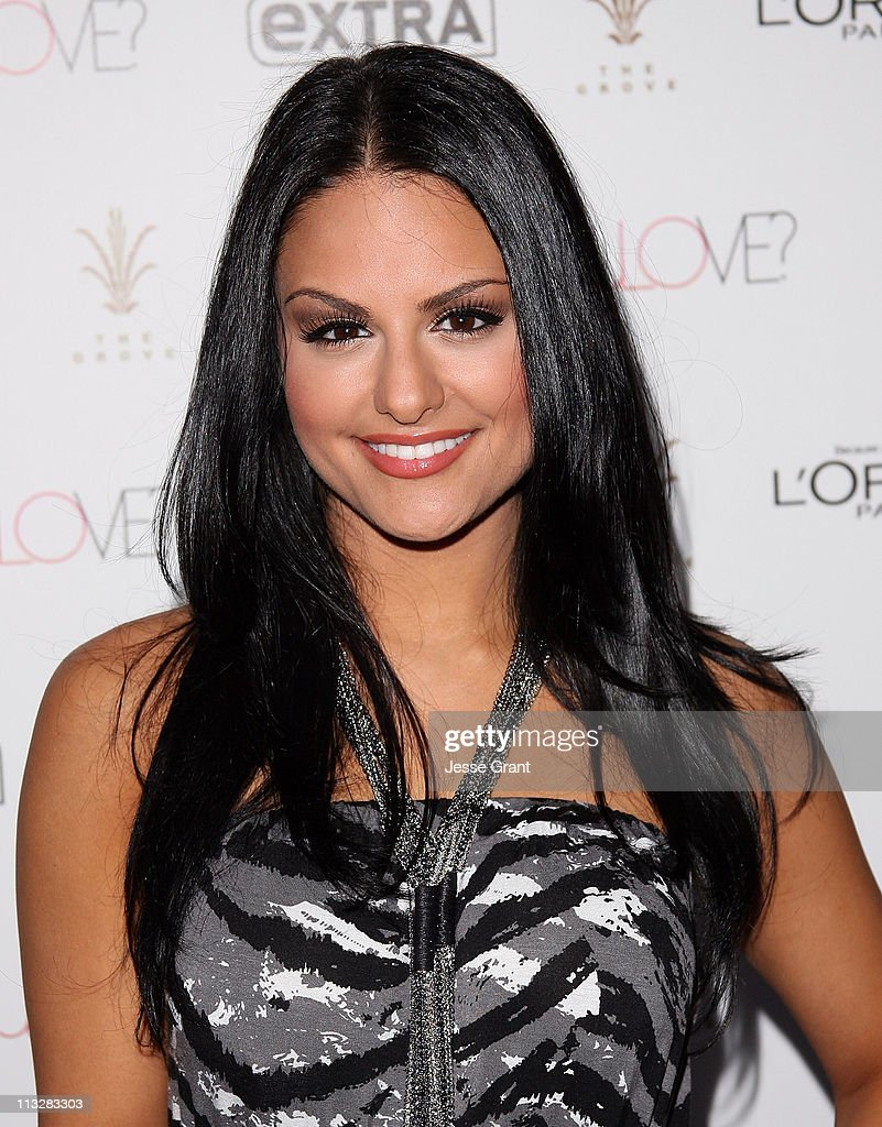 Pia Toscano attends Extra's special pre-release party for Jennifer lopez's new album 'Love?.' held at The Grove on April 29, 2011 in Los Angeles, California.