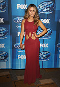 Pia Toscano attends FOX's 'American Idol' finale for the farewell season at Dolby Theatre on April 7 2016 in Hollywood California