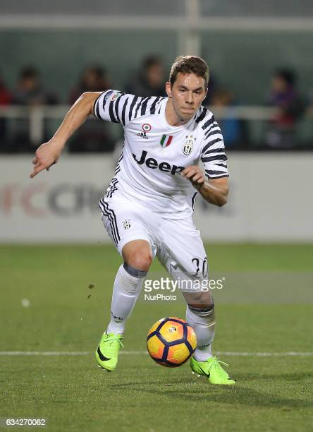 Piaca of Juventus during the Serie A match between FC Crotone and Juventus FC at Stadio Comunale Ezio Scida on February 8 2017 in Crotone Italy