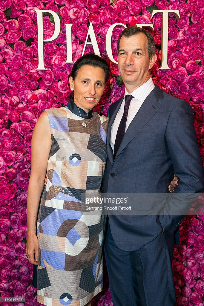 Piaget CEO <a gi-track='captionPersonalityLinkClicked' href=/galleries/search?phrase=Philippe+Leopold-Metzger&family=editorial&specificpeople=4900497 ng-click='$event.stopPropagation()'>Philippe Leopold-Metzger</a> and his wife Catherine attend the Piaget Rose Day Private Event in Orangerie Ephemere at Jardin des Tuileries on June 13, 2013 in Paris, France.