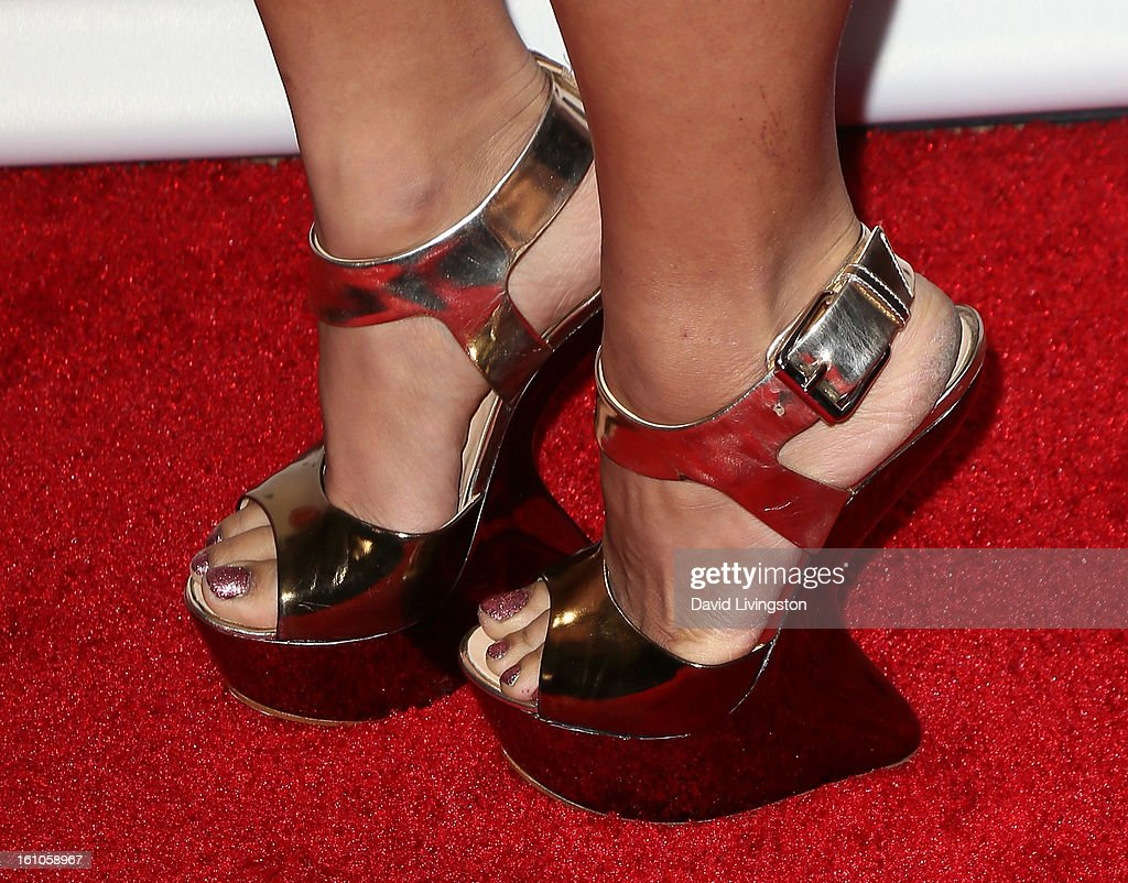 Pianist Chloe Flower (shoe detail) attends VIBE's 20th Anniversary Celebration and Inaugural Impact Awards at the Sunset Tower Hotel on February 8, 2013 in West Hollywood, California.