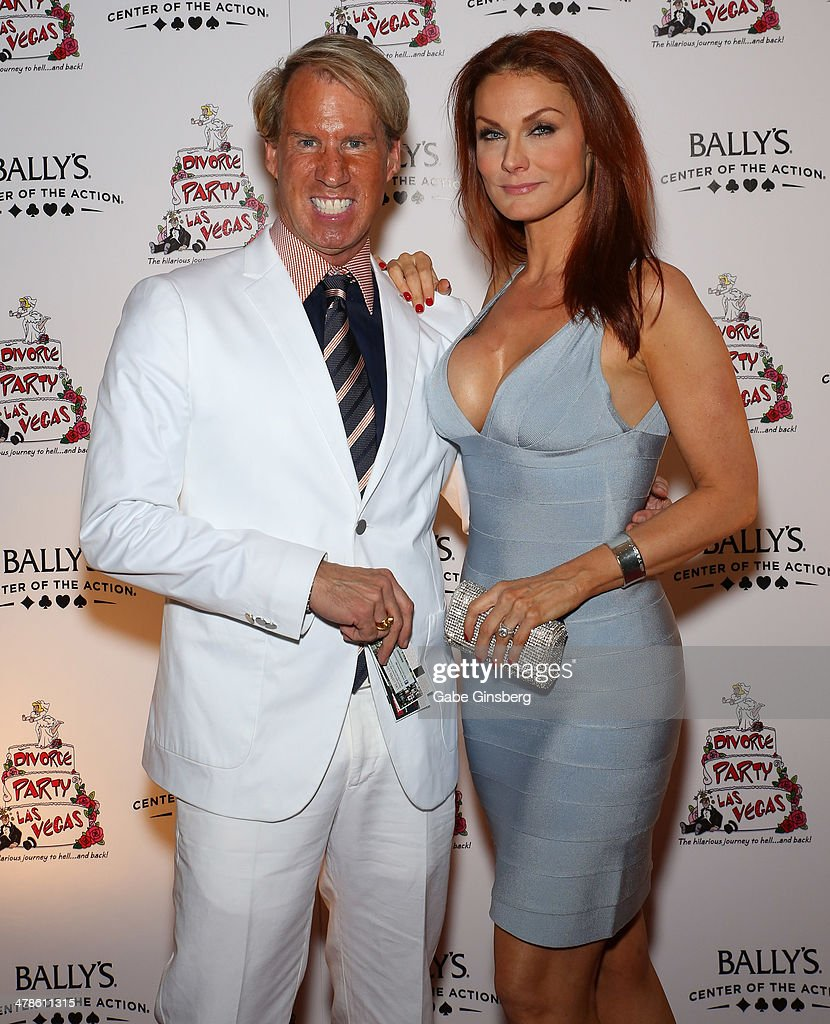 Pianist Danny Wright (L) and singer Traci Ohlson Kesisian arrive at the Las Vegas premiere of 'Divorce Party' at the Windows Showroom at Bally's Las Vegas on March 13, 2014 in Las Vegas, Nevada.