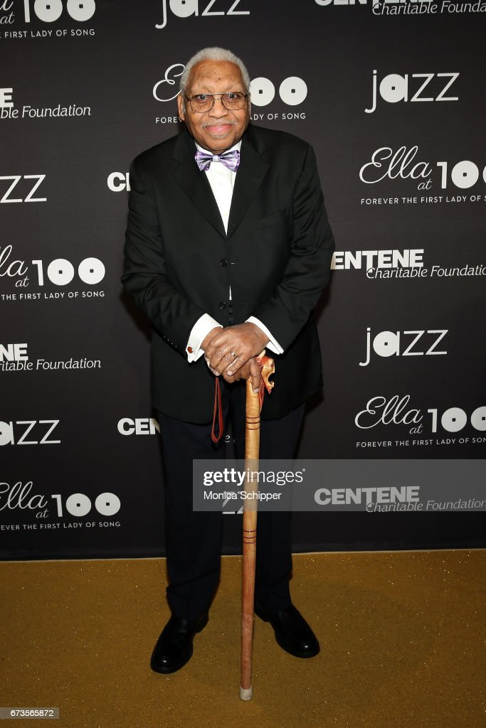 Pianist Ellis Marsalis attends the 2017 Jazz At Lincoln Center Gala: Ella At 100: Forever The First Lady of Song at Frederick P. Rose Hall, Jazz at Lincoln Center on April 26, 2017 in New York City.