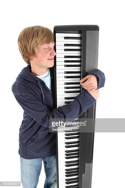 Pianiste se tenant Piano