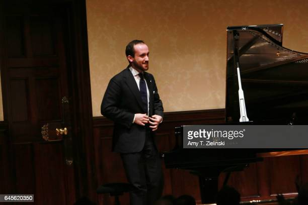 Pianist Igor Levit receives the audience after performing an all Beethoven solo piano recital with works by the composer including the 'Pastoral' and...