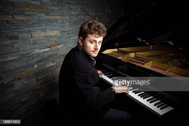 Pianiste dans un Studio d'enregistrement
