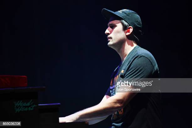 Pianist Kenny Hensley of The Head and the Heart performs during the Signs of Light tour on September 26 2017 at Massey Hall in Toronto ON Canada