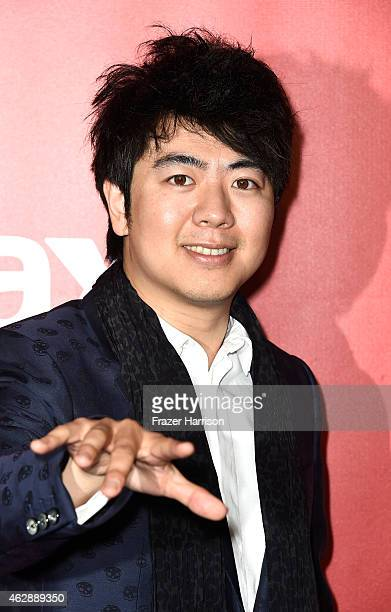 Pianist Lang Lang attends the 25th anniversary MusiCares 2015 Person Of The Year Gala honoring Bob Dylan at the Los Angeles Convention Center on...