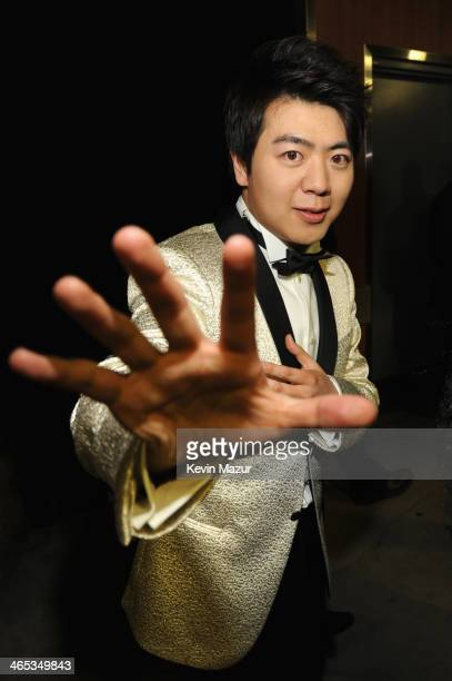 Pianist Lang Lang attends the 56th GRAMMY Awards at Staples Center on January 26 2014 in Los Angeles California